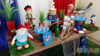 Decoração festa infantil Jake e os Piratas da Terra do Nunca Porto Alegre