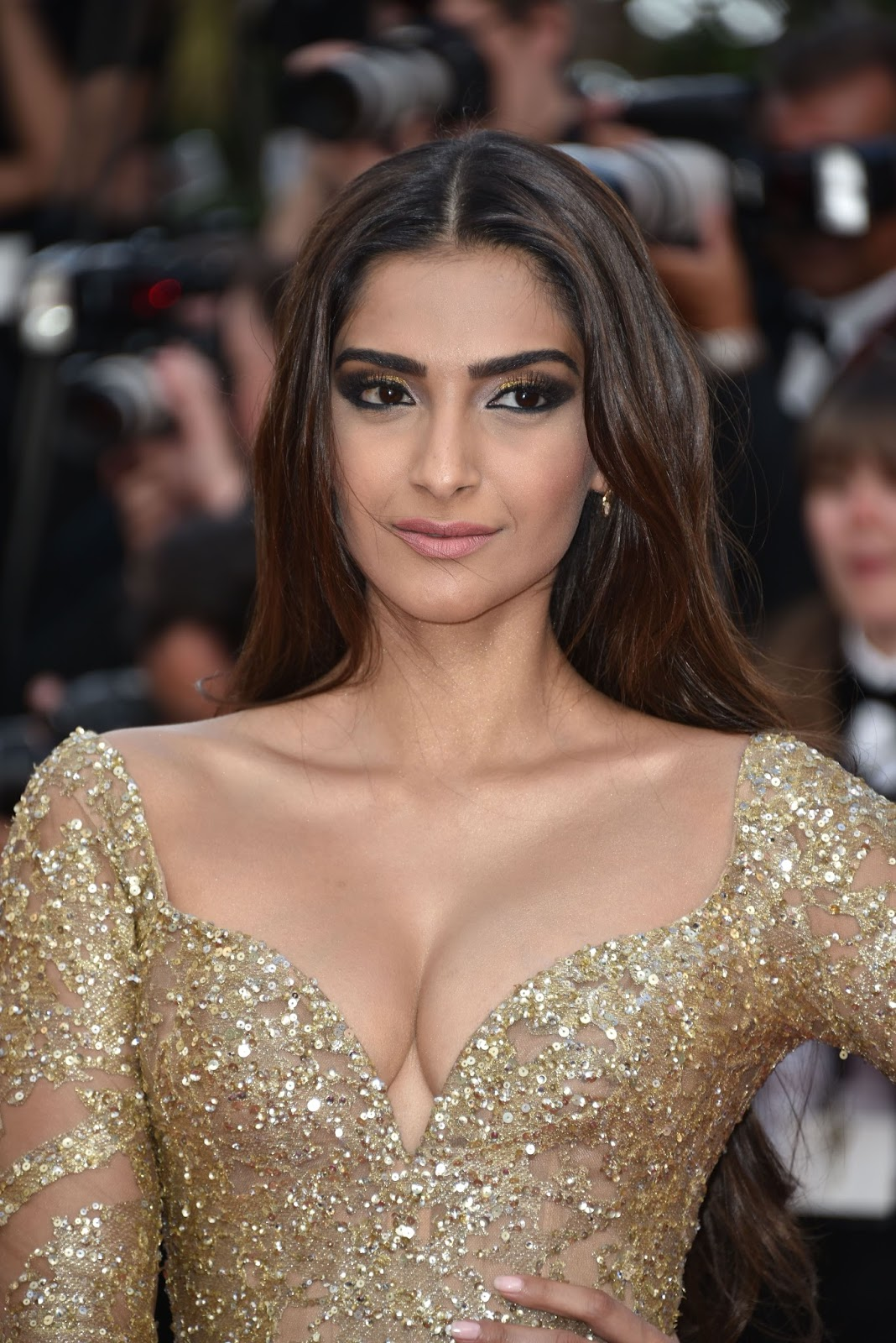 Sonam Kapoor Sexiest Cleavage Show In Elie Saab Couture At -2812