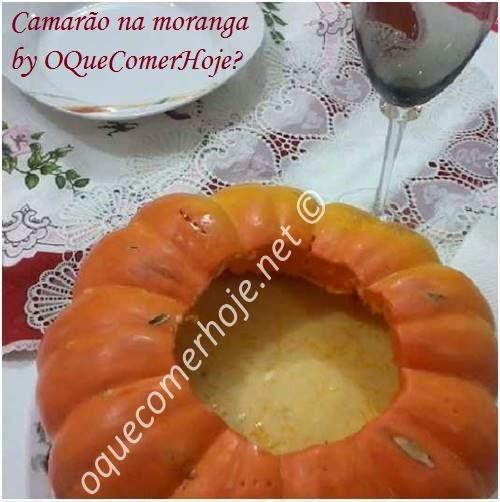 Camarão na moranga no microondas (microondas ou forno)