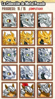 imagen de la coleccion metal pesado de dragon city