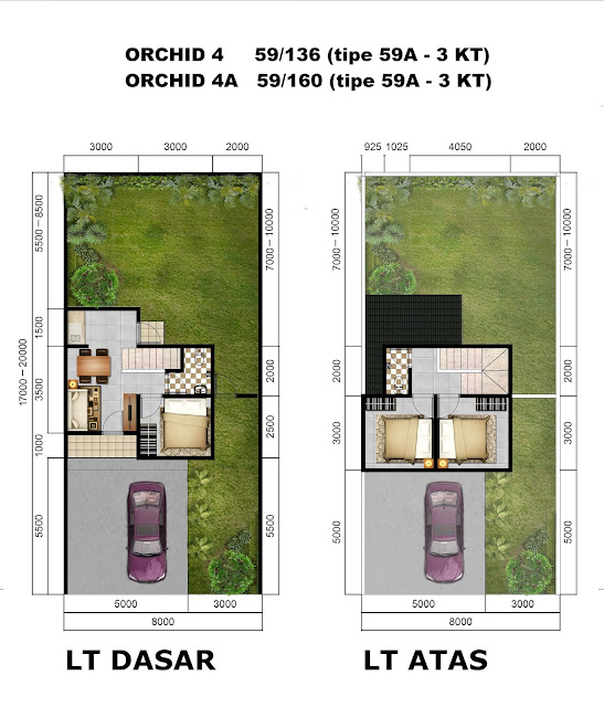 Denah Rumah ORCHID 4A - 59/160 Citra Indah City