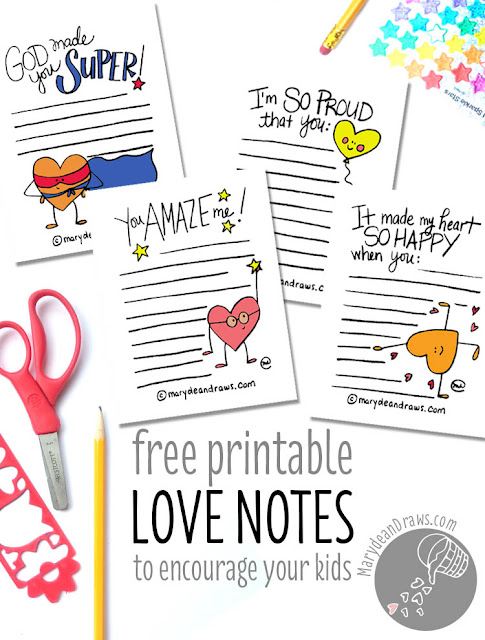 Notes Of Encouragement For Students: PRINTABLE Love & Encouragement Notes