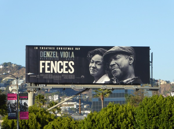 Fences film billboard
