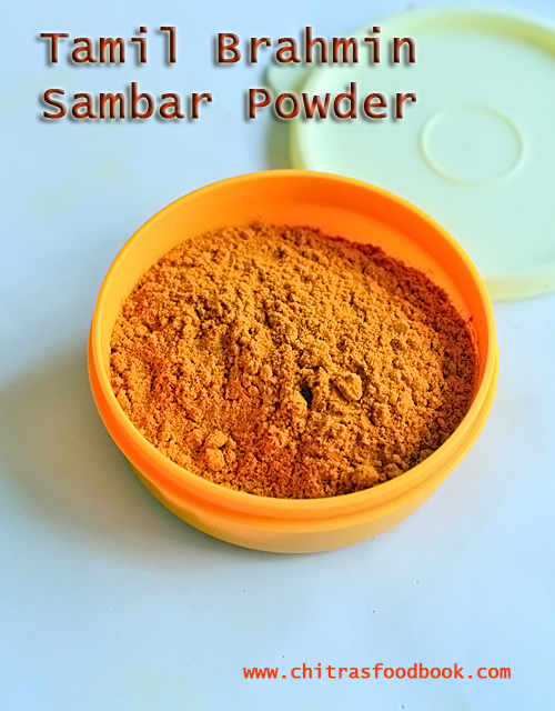 Tamil brahmin sambar powder recipe