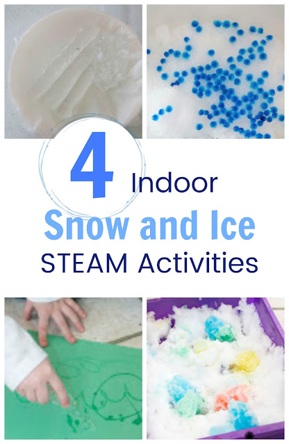 4 Ice and Snow STEAM Activities to do Indoors