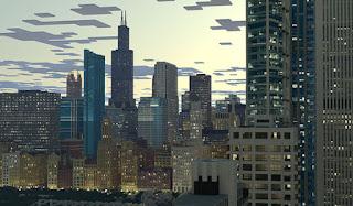 Reproducción ciudad de Chicago con Minecraft.