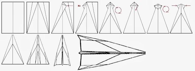 Avión de papel Wing 20