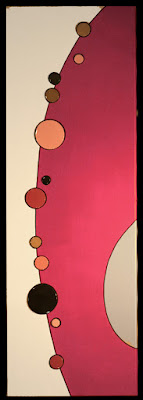 peinture abstraite rose de l'artiste et céramiste Edwige LE PON TARCHI