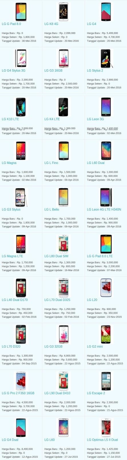Daftar Harga Hp Terbaru LG Juni 2016
