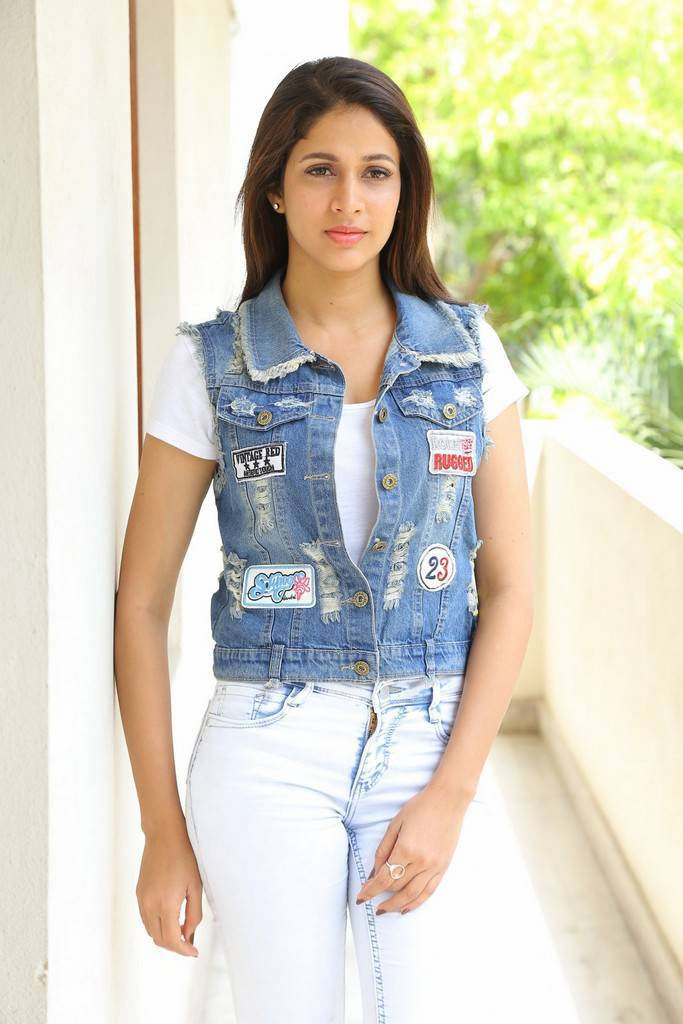 Lavanya Tripathi Long Hair Stills In White Top Jeans
