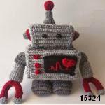 patron gratis robot amigurumi, free amigurumi pattern robot