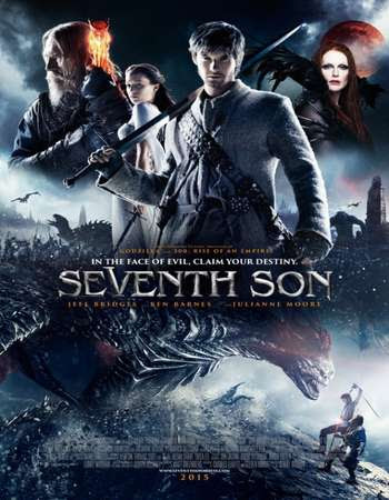 Poster Of Seventh Son 2014 In Hindi Bluray 720P Free Download