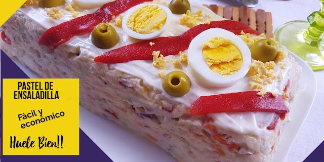Pastel de ensaladilla rusa