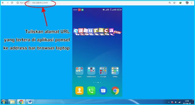 Menampilkan layar HP ke Laptop