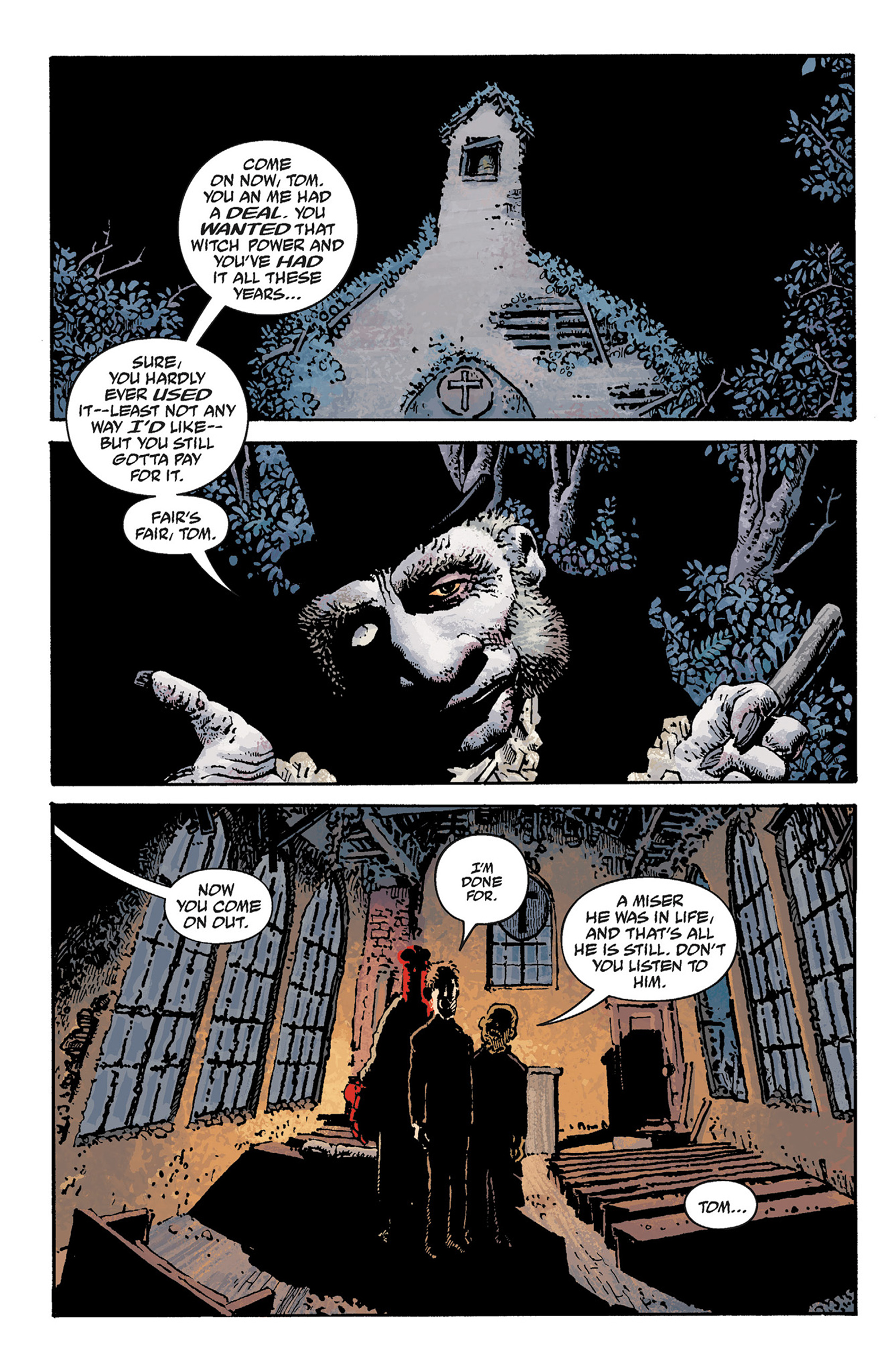 Read online Hellboy: The Crooked Man and Others comic -  Issue # TPB - 58