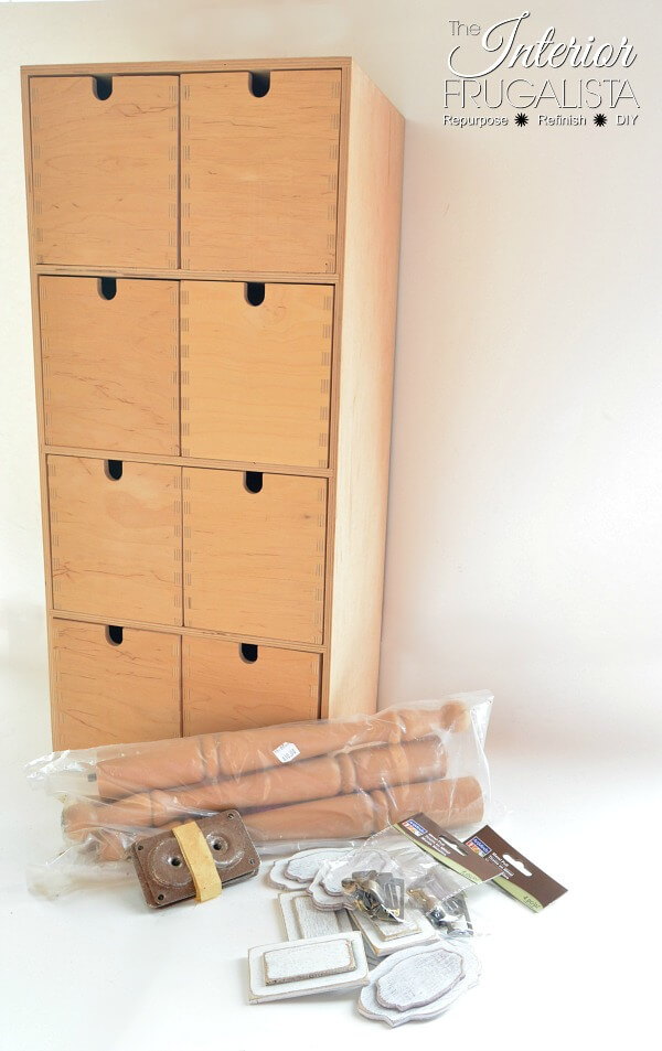 IKEA Moppe Cabinet Before Adding Legs
