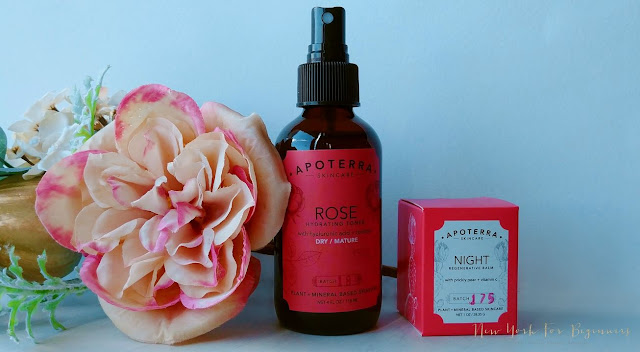 review of apoterra rose line for dry skin in the autumn at www.newyorkforbeginners.com