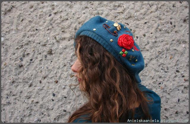 Diy-tutorial-blog-o-szyciu-i-przeróbkach-ubrań-ciuchów-beret-how to-sew-refashion-sweater-przeróbka-swetra-czapka-wykrój-pattern