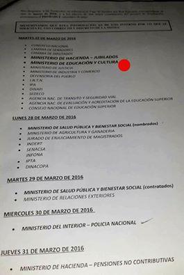 Federacion de educadores de la capital e interior feci for Cronograma de pagos ministerio del interior