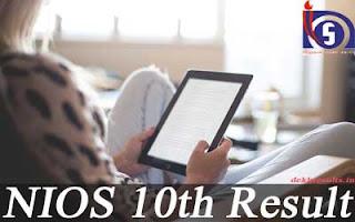 एनआईओएस 10 वीं परिणाम 2018 तारीख