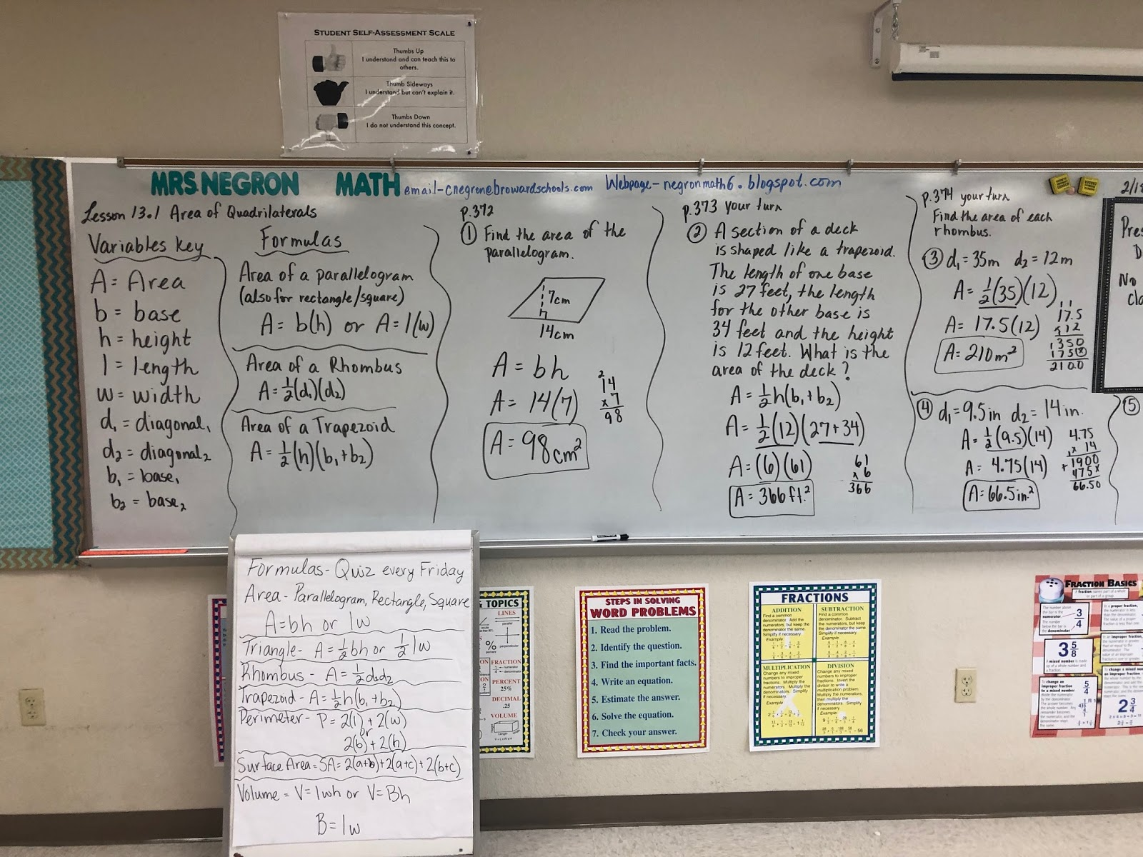 Mrs Negron 6th Grade Math Class Lesson 13 1 Area Of