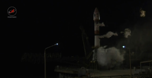 Soyuz-2.1b rocket suffers an on-pad abort on the launch pad on Mar. 12. Credit: Roscosmos