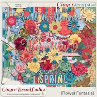 Kit : Flower Fantasia by  GingerScraps designers