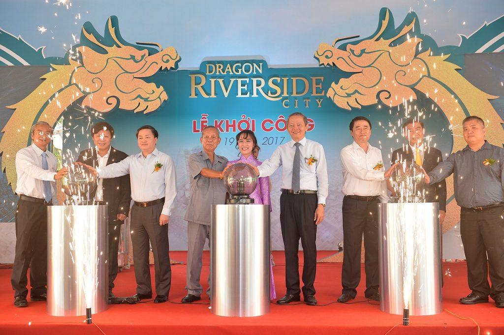 Bà Nguyễn Thị Phương Thảo tham gia lễ khởi công dự án Dragon Riverside City
