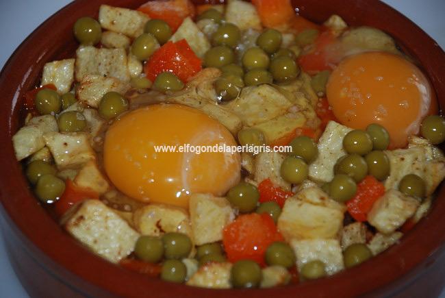 Preparar los huevos a la flamenca