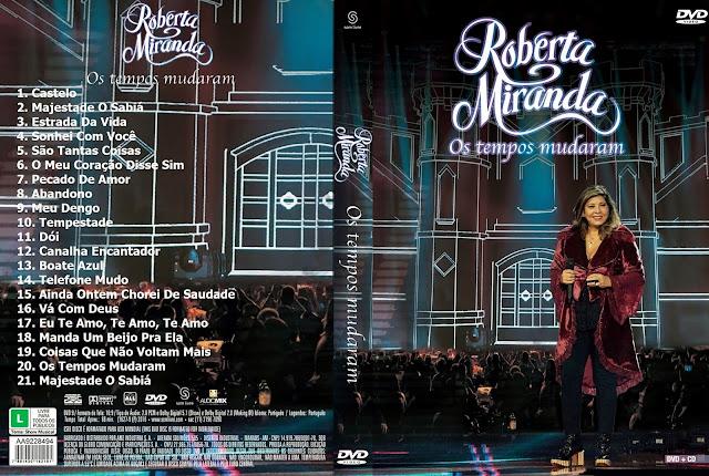 Capa DVD Roberta Miranda Os Tempos Mudaram