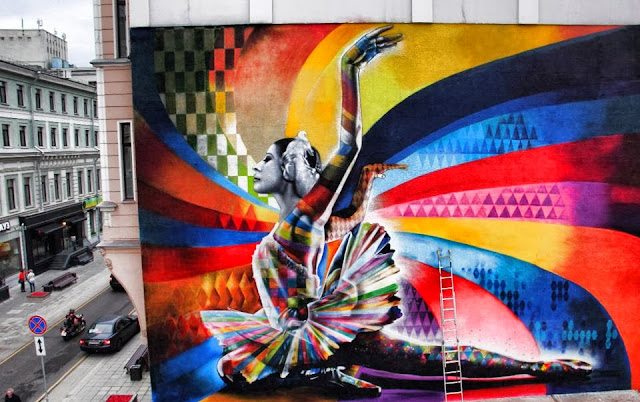 """The Dancer"" By Eduardo Kobra, a Street Art tribute to Maya Plisetskaya, one of the leading names in Russian ballet. 1"