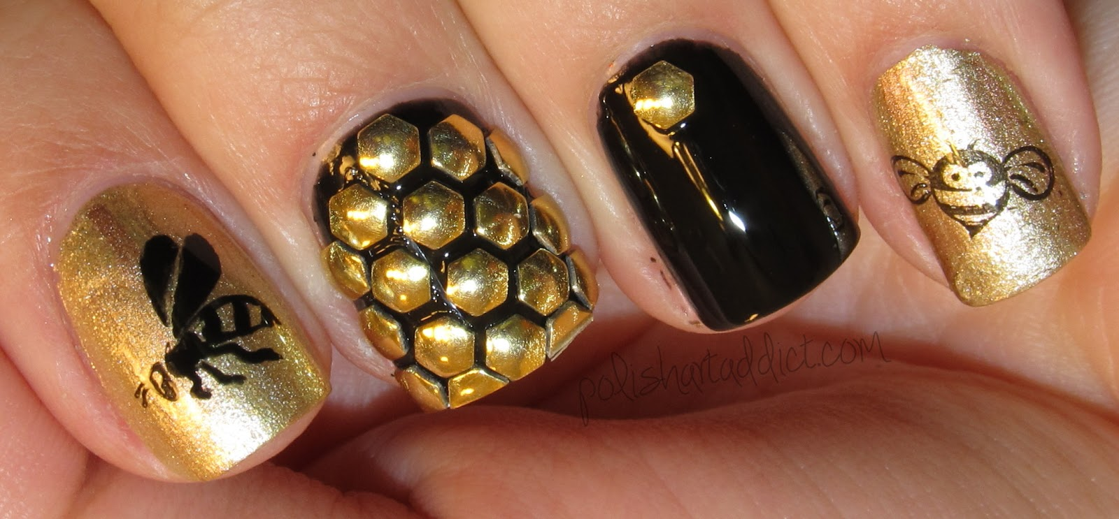 Honeybee Hexagonal Studs