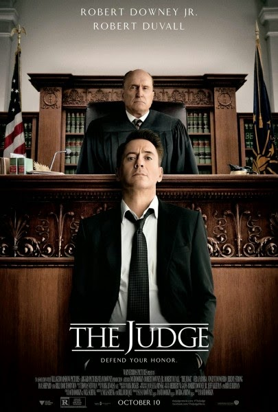The Judge (2014), Directed by David Dobkin, Movie Poster, starring Robert Downey, Jr., Robert Duvall, Vera Farmiga