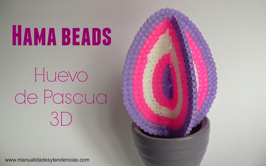 Tutorial Huevo de Pascua 3D con hama beads