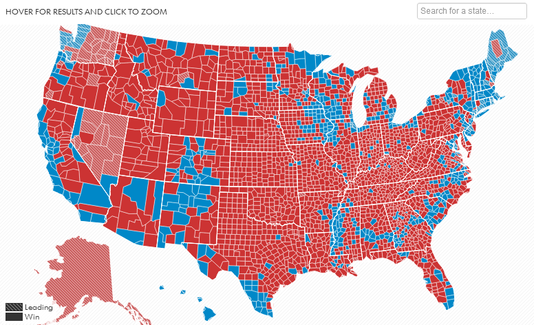 Common Cents Blog: US 2012 Election Results Map by County: