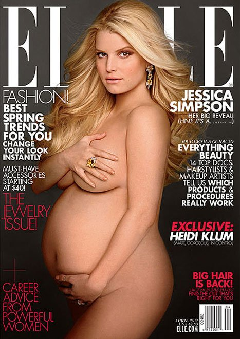 HEIDI KLUM and JESSICA SIMPSON for ELLE April 2012