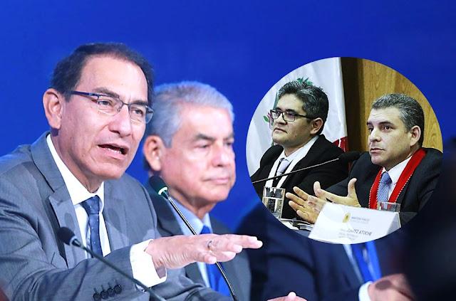 El presidente Martín Vizcarra expresó el respaldo de su Gobierno a la permanencia de los fiscales Rafael Vela y José Domingo Pérez, encargados de las investigaciones del caso Lava Jato.
