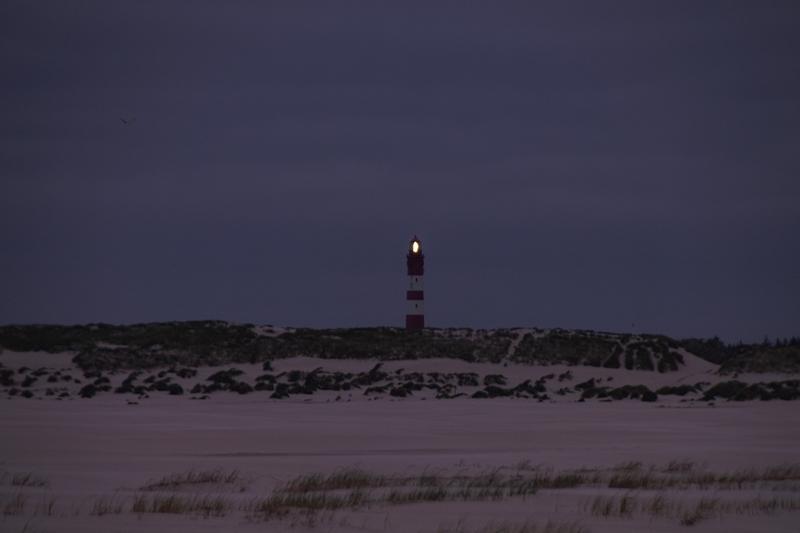 Amrum Leuchtturm Kniepsand Nacht Leuchten