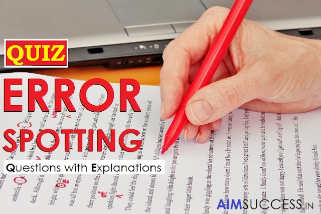 Useful Error Detection Quiz For SSC CHSL 2018