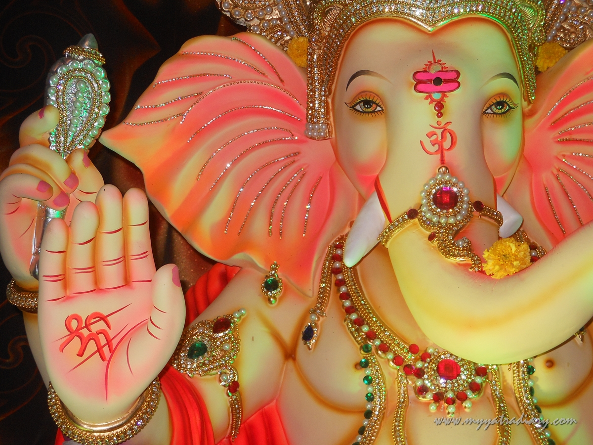 Beautiful Ganesha Blessing during Ganesh Chaturthi Festival Mumbai