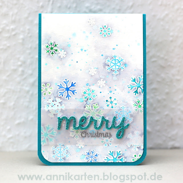 Sunny Studio Stamps: Mug Hugs Snowflake Christmas Card by Anni Lerche.