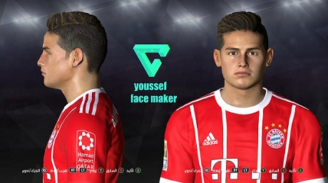 PES 2017 James Rodriguez New Face 2018/19 By Youssef Sayed