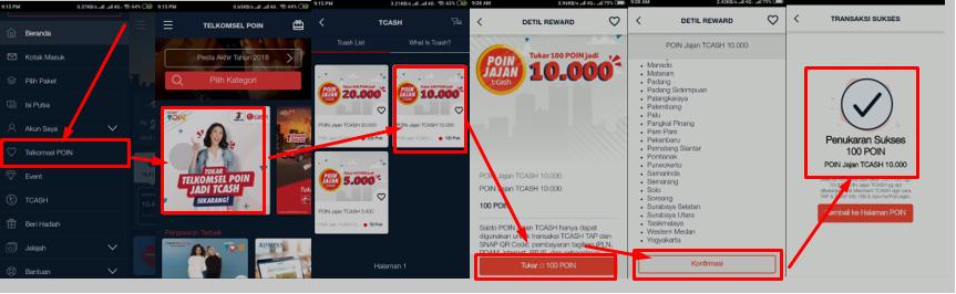 Cara Merubah Poin Telkomsel Menjadi Saldo Bonus Tcash Anak Informan