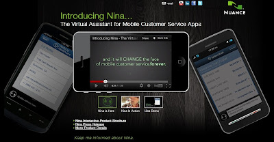 the mobile voice assistant Nina from Nuance