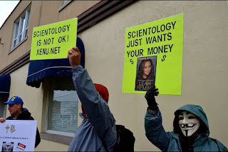 Many protestors are alarmed by the warnings from former Scientology member Leah Remini. Troy Bridgeman for GuelphToday.com