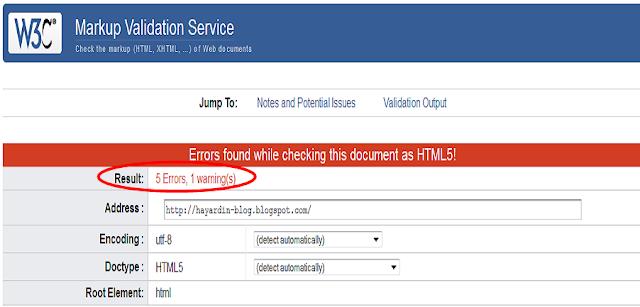 Cara Ampuh Mengurangi Error HTML Pada Template Blog