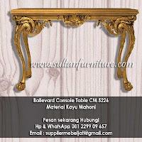 jual mebel ukir klasik meja konsole ukir klasik cm5226 klasik french gold leaf furniture Indonesia