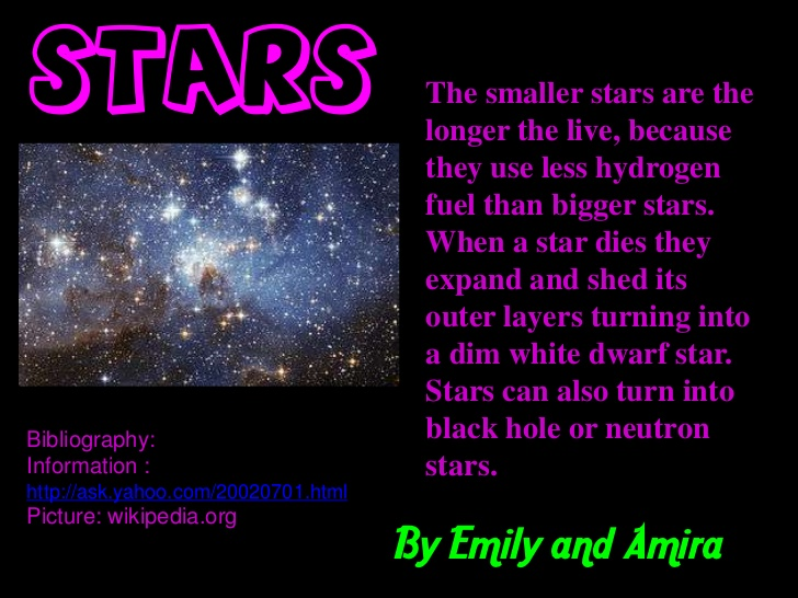 Brain Gym: fact about stars