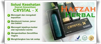 Herbal untuk organ kewanitaan crystal x murah di hafzah herbal