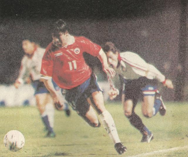 Chile y Paraguay en Copa Centenario del Fútbol Chileno, 19 de junio de 1995